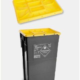 Odpadové nádoby na biologický odpad EKO – čierne – vyrobené z recyklovaného plastu